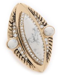 Samantha Wills - Reality Of Dreams Grand Ring - Gold/white - Lyst