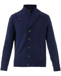 Paul Smith Chunky-knit Merino-wool Cardigan - Lyst