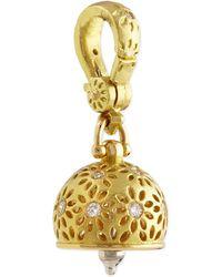 Paul Morelli - 18K Gold #2 Eyelet Diamond Meditation Bell Pendant - Lyst