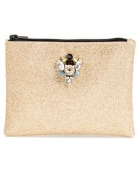 Berry - Embellished Glitter Clutch - Metallic - Lyst