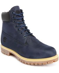 Timberland   6-inch Blue Leather Boots   Lyst