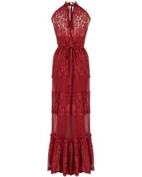 Temperley London Long Constance Panel Dress red - Lyst