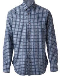 Ferragamo Checked Shirt - Lyst