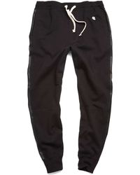 Todd Snyder X Champion   Leather Stripe Sweatpant   Lyst