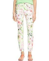 Brooks Brothers Natalie Fit Floral Cotton Pants - Lyst