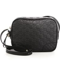 Gucci Bree Ssima Mini Leather Disco Bag black - Lyst
