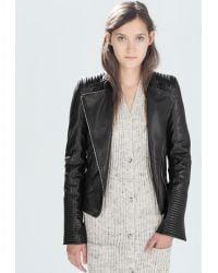Zara Biker Jacket - Lyst