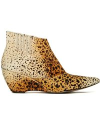 Nasty Gal Matisse Nugent Ponyhair Ankle Boot animal - Lyst