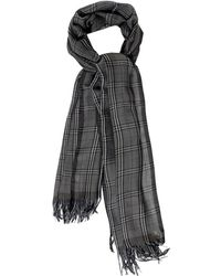 Colombo Checked Cashmere and Silk-blend Scarf - Lyst