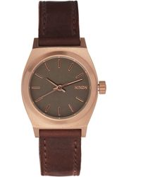 Nixon - Small Brown Time Teller Gunmetal Dial Watch - Lyst