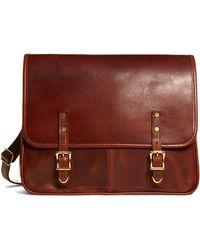 Brooks Brothers Jw Hulme Leather Flap Messenger Bag - Lyst