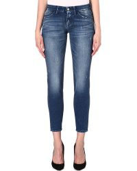 7 For All Mankind Cigarette Slim Mid-rise Jeans - Lyst