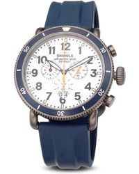 Shinola Runwell Sport Stainless Steel Chronograph Strap Watch - Lyst