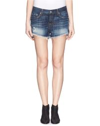 Rag & Bone/JEAN 'Cut Off' Denim Shorts - Lyst