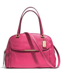 Coach Madison Georgie in Embossed Leather - Lyst