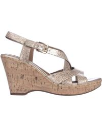 Söfft - Vivien Cork Wedge Strappy Sandals - Lyst