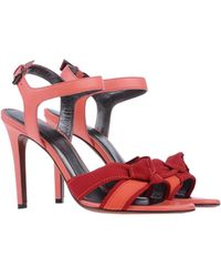Lanvin Red Sandals - Lyst