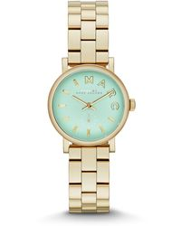 Marc By Marc Jacobs 28mm Baker Analog Watch with Bracelet Strap Yellow Goldenmint - Lyst