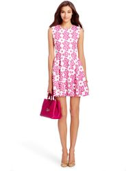Diane von Furstenberg Jeannie Cotton Fit And Flare Dress - Lyst
