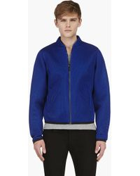 Calvin Klein Ssense Exclusive Blue Layered Mesh Jacket - Lyst