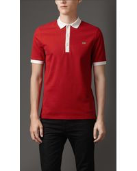 Burberry Mercerised Cotton Polo Shirt - Lyst