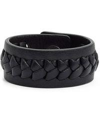 Frye - 'jenny' Braided Leather Bracelet - Lyst