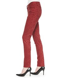 Christopher Blue - Mid-rise Leopard-print Skinny Jeans - Lyst