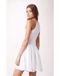 Mink Pink Up On The Ladder Skater Dress - Lyst
