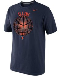 Nike Mens Shortsleeve Illinois Fighting Illini Tshirt - Lyst