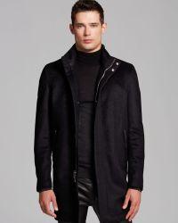 John Varvatos Collection Zip Top Coat - Lyst