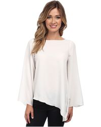 Badgley Mischka Flare Sleeve Top - Lyst