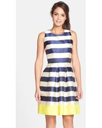 Eliza J Stripe Fit & Flare Dress - Lyst