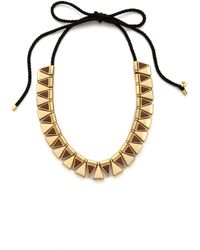 Madewell Triangle Corded Necklace Vintage Gold - Lyst