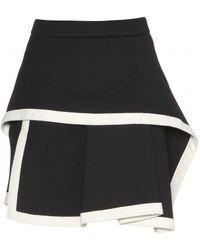 McQ by Alexander McQueen Black Wool Miniskirt - Lyst