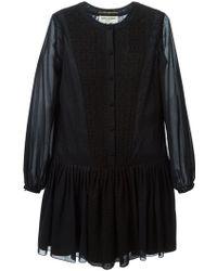 Saint Laurent Macrame Peasant Dress - Lyst