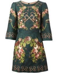 Dolce & Gabbana Quilted Tunic Dress - Lyst