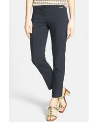 Tory Burch 'Callie' Seamed Crop Pants - Lyst