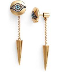 Iam By Ileana Makri - 'dawn' Spike Drop Back Earrings - Lyst