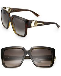 Gucci Horsebit 56mm Square Sunglasses - Lyst