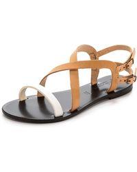 Joie A La Plage Socoa Sandals Naturalwhite - Lyst