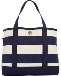 Tommy Hilfiger Th Totes Woven Rugby Stripe Small Tote - Lyst