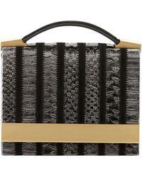 B Brian Atwood Ava Metallic Croc-print Shoulder Bag - Lyst