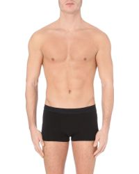 La Perla Branded Cotton Trunks - Lyst