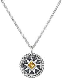 Satya Jewelry - 'mandala' Birthstone Pendant Necklace - November/ Citrine - Lyst