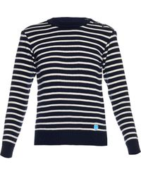 Orcival - Crew-neck Striped Wool Jumper - Lyst