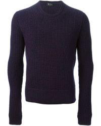 Jil Sander Ribbed Knit Sweater - Lyst