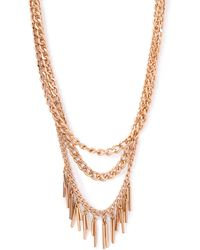 Forever 21 Layered Chain Matchstick Necklace - Lyst
