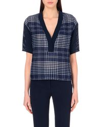 Sandro Checked Short-Sleeve Top - Lyst