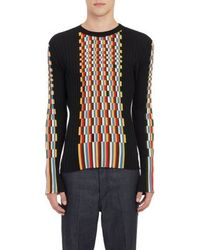Loewe Pixel-graphic Ribbed Sweater - Lyst