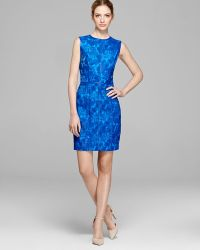 Cynthia Steffe Dress Eleonora Sleeveless Embroidered Faux Leather - Lyst